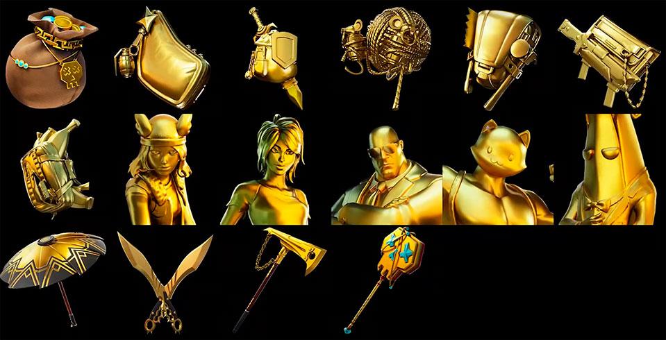 Fortnite Gold Styles